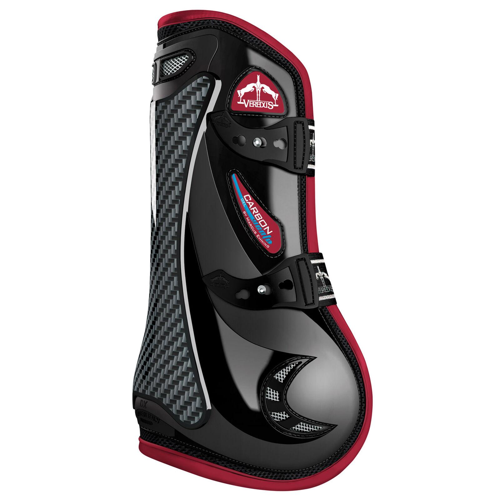 Black Pferde-Gamaschen Pferdeausstattung & Zubehör Veredus Carbon Gel Vento Front Tendon Boots